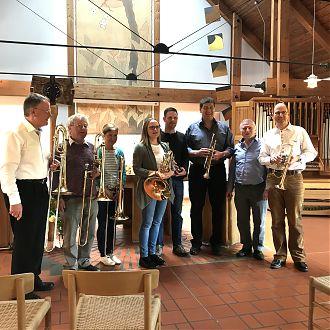 der Posaunenchor an der Versöhnungskirche