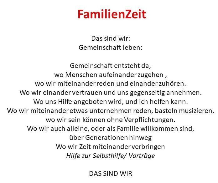 Beschreibung FamilienZeit