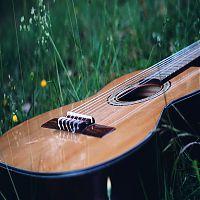 Gitarre im Gras