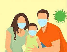 Symbolbild Familie im Lockdown