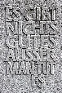 Inschrift - Gutes tun