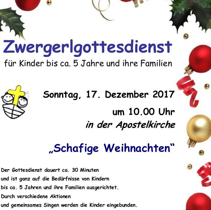 Plakat des Zwergerl Gottesdienstes im Advent