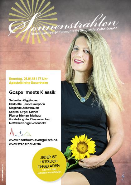 Plakat zum Konzert Gospel meets Klassik