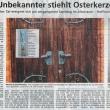 Zeitungsartikel zu gestohlener Osterkerze