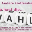 Plakat zu Der Andrere Gottesdienst 17.09.2017