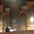 Kantor Johannes Eppelein an der Orgel