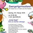 Plakat Zwergerl-Gottesdienst