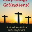 Einladung zum Karfreitagsgottesdienst am 19. April um 10 Uhr